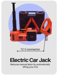 electric powered hydraulic jack for electric car in electric car accessories