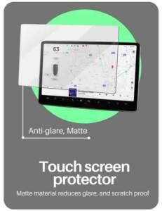 Screen protector for tesla model s, tesla model y, and tesla model 3 . electric car touchscreen protector