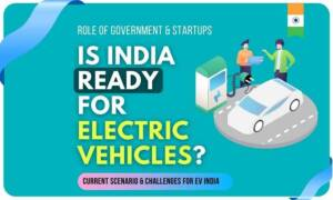 is india ready for electric vehicles group discussion with electric vehicle and a electric car charging station